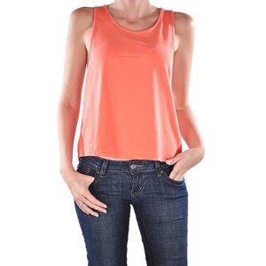 Coral tank top blouse